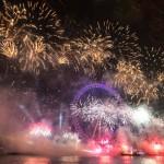 Se fyrverkerierna som skjuts upp från the London Eye!