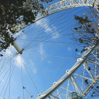 Ett soligt London Eye