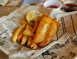 Njut av god fish and chips