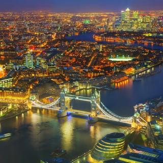London city flygfoto