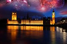 London nyårsfirande är populärt