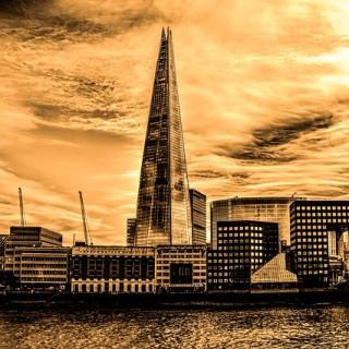 Lyxhotell och The Shard i London